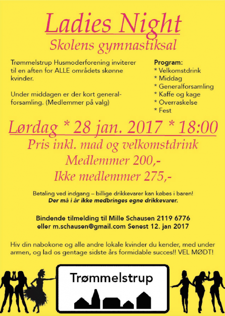 Ladies Night Trømmelstrup husmoderforening 2017